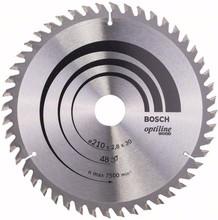 Bosch Cirkelzaagblad Optiline Wood 210x30x2.8mm T48
