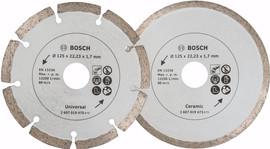 Bosch Diamantschijf 125 mm 2 stuks
