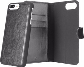 Xqisit Eman Wallet iPhone 7+/8+ Book Case Zwart