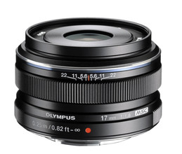 Olympus M.Zuiko Digital ED 17mm f/1.8 zwart