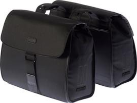 Basil Noir Dubbel Bag 38L Zwart