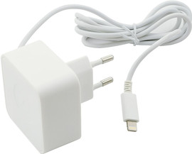 Muvit Apple Lightning Thuislader 2,4A Wit