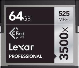 Lexar 64GB CFast 2.0 Professional 3500x 525 MB/s