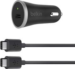 Belkin Autolader USB-C 3A Zwart/Grijs