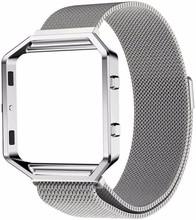 Just in Case Milanees Polsband Fitbit Blaze Zilver