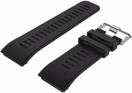 Just in Case Siliconen Polsband Garmin Vivoactive HR Zwart