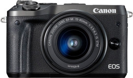 Canon EOS M6 Body Zwart + EF-M 15-45mm f/3.5-6.3 IS STM