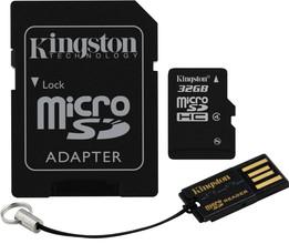 Kingston MicroSDHC 32GB Mobility Kit v2