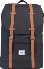 Herschel Retreat Mid-Volume Black/Tan Synthetic Leather
