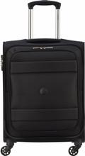 Delsey Indiscrete Soft 4 Wheel Slim Cabin Trolley 55cm Black