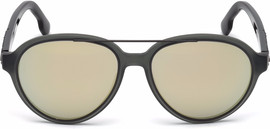 Diesel DL0214 97C Matte Dark Green / Grey Mirror