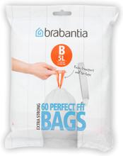 Brabantia Dispenser Pack Afvalzak B - 5 Liter DP (60 stuks)