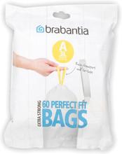Brabantia Dispenser Pack Afvalzak V - 3 Liter (60 stuks)