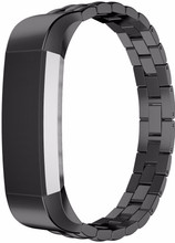 Just in Case Premium Chain RVS Polsband Fitbit Alta Zwart