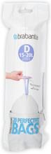 Brabantia Afvalzak Code D - 15-20 Liter (20 stuks)
