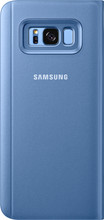 Samsung Galaxy S8 Plus Clear Stand View Cover Blauw