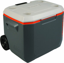 Coleman 50QT Wheeled Xtreme Cooler Tricolor Charcoal/Orange