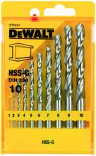 DeWalt 10-delige Metaalborenset HSS-G
