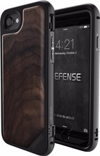 X-Doria Defense Lux Wood iPhone 7+/8+ Back Cover Zwart