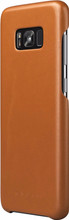 Mujjo Leather Case Galaxy S8 Plus Back Cover Bruin