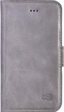 Senza Pure Leather Wallet iPhone 5/5S/SE Book Case Grijs