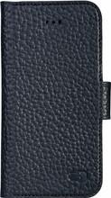 Senza Exquisite Leather Wallet iPhone 5/5S/SE Book Case Zwar