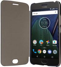 Motorola Moto G5 Plus View Cover Book Case Zwart