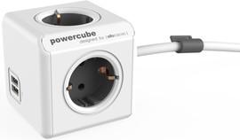 PowerCube USB 4-voudige stekkerdoos 1,5m