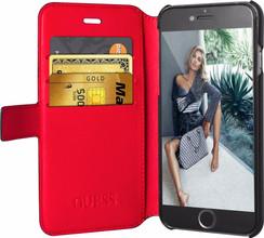 Guess Saffiano iPhone 6/6s Book Case Zwart