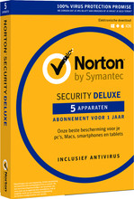 Norton Security Deluxe 2018 | 5 Apparaten | 1 Jaar