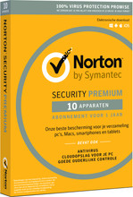 Norton Security Premium 2018 | 10 Apparaten | 1 Jaar
