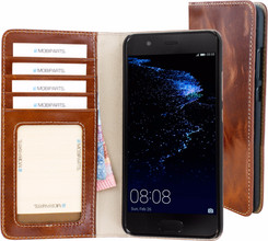 Mobiparts Excellent Wallet Huawei P10 Book Case Bruin