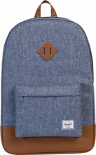 Herschel Heritage Dark Chambray Crosshatch/Tan Synthetic