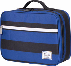 Herschel Pop Quiz Lunchbox Black/Surf the Web Stripes