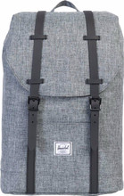 Herschel Retreat Mid-Volume Raven Crosshatch/Black Rubber