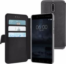 Azuri Wallet Magneet Nokia 6/6 Arte Book Case Zwart