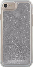 Guess Glitter iPhone 6/6s/7/8 Back Cover Zilver