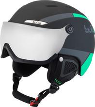 Bollé B-Yond Visor Black/Green + Silver Gun Vizier (54 - 58