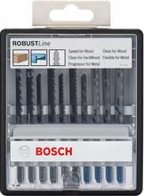 Bosch Robust Line 10-delige Decoupeerzaagbladenset