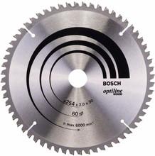 Bosch Cirkelzaagblad Optiline Wood 254x2x30 60T