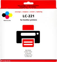 Huismerk Brother LC-221 4-Kleuren Pack