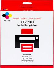Huismerk LC-1100XL 4-Kleuren Pack