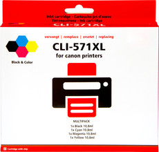 Huismerk Canon CLI-571XL 4-Kleuren Pack (0386C005)