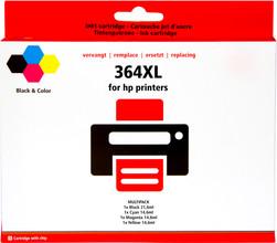 Huismerk 364 Cartridge 4-Kleuren XL (J3M83AE)
