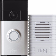 Ring Video Deurbel Grijs + Ring Chime