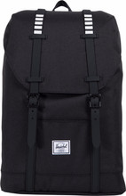 Herschel Retreat Mid-Volume Black/Black Rubber/White Inset