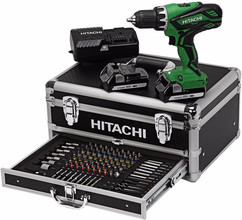 Hitachi DS18DJL + 100-delige Toolbox