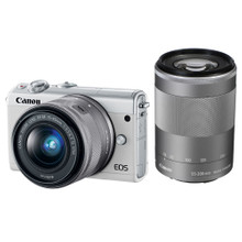 Canon EOS M100 + 15-45mm + 55-200mm Wit