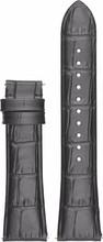 Emporio Armani 22mm Lederen Horlogeband Zwart