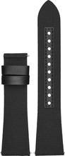 Emporio Armani 22mm Nylon Horlogeband Zwart